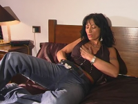 milf not gilf is caught with hand down her pants