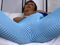 masturbation in neon pants
