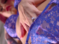 monique alexander and blue panties