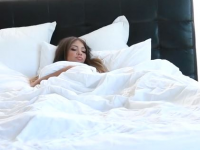 cassidy banks touches herself under the covers