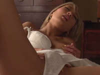 most tanned asian girl ever fingers herself under her white panties